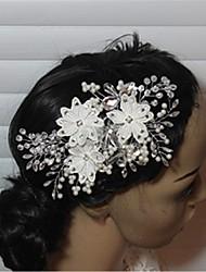 Недорогие -кристалл имитация жемчуг горный хрусталь зажим для волос головной убор элегантный стиль