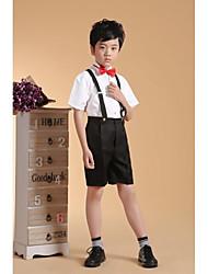 Cotone Completo da paggetto - 4 Pezzi Include Pantaloni Bretelle Camicia Papillon