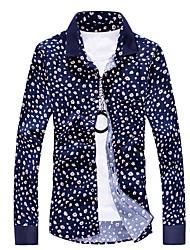 cheap -Men's Shirt - Floral Standing Collar