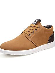 economico -Da uomo-Sneakers-Casual-Comoda-Piatto-Finta pelle-Marrone Grigio Blu scuro