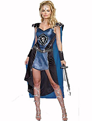 Soldier/Warrior Female Halloween Christmas Carnival Children's Day New Year Oktoberfest Festival/Holiday Halloween Costumes Blue Print