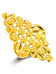 abordables -Mujer Oro Anillo - Dorado anillo Para Boda Fiesta Diario Casual