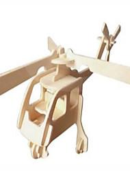 Недорогие -Деревянные пазлы Вертолет профессиональный уровень Дерево 1 pcs Вертолет Мальчики Девочки Игрушки Подарок
