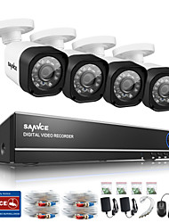 cheap -SANNCE® 4CH 720P AHD DVR HDMI 4PCS 720P IR Night Vision Outdoor CCTV Camera Security System Surveillance Kits