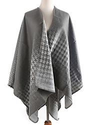 Women Faux Fur Scarf,Casual RectanglePrint
