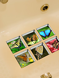 cheap -Butterfly 3D Bathroom Non-Slip Stickers The Floor Tile Individuality Decorative Stickers
