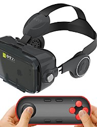 cheap -Black Integrated Earphone Virtual Reality Headset for 4.7-6.2 Inch Smartphone with Bluetooth Remote Gamepad
