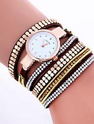 cheap -Women Fashion Dress Watches Crystal Luxury Leather Bracelet Wristwatches Women Quartz Wrist Watch Gift Watches Clock