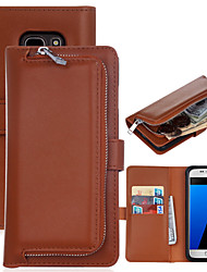 cheap -for Samsung Galaxy S8 Plus The New Plain Leather Wallet Zipper Versatile Combo for Samsung Galaxy S5 S6 S6Edge S7 S7Edge