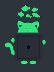 Animais / Desenho Animado / Moda Wall Stickers Autocolantes de Aviões para Parede / Autocolantes de Parede LuminososAutocolantes de
