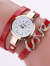 cheap -Women's Fashion Watch / Bracelet Watch / Wrist Watch Cool / Colorful PU Band Charm / Vintage / Heart shape Black / White / Blue