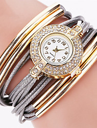 cheap -Women's Quartz Wrist Watch Bracelet Watch Rhinestone Colorful Imitation Diamond Punk PU Band Charm Sparkle Vintage Candy color Casual
