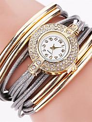 abordables -Femme Quartz Montre Bracelet Bracelet de Montre Strass Coloré Imitation de diamant Punk Polyuréthane Bande Charme Etincelant Rétro Bonbon