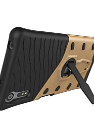 abordables -Para Sony xperia xz e5 armadura patrón con soporte de chapado de la cubierta de la cubierta de la caja duro pc