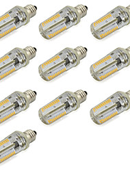 abordables -10pcs 4W 280lm E12 Ampoules Maïs LED Tube 152 Perles LED SMD 3014 Décorative Blanc Chaud Blanc Froid 85-265V