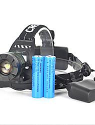 Lanternas de Cabeça Luzes de Bicicleta luzes de segurança Farol Dianteiro LED 5000 lm 1 Modo Cree XM-L T6 Controle de Ângulo Super Leve