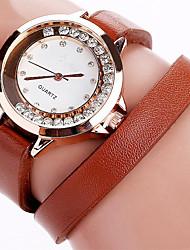 economico -Per donna Orologio elegante Orologio alla moda Orologio braccialetto Orologi con cristalli Orologio da polso Quarzo Strass Punk Colorato