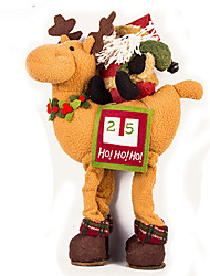 Stuffed Toys Holiday Decorations Christmas Decorations Toys Santa Suits Elk Deer Furnishing Articles Boys' Girls' Pieces