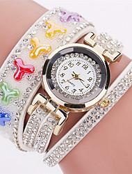 Xu™ Dámské Módní hodinky Náramkové hodinky Křemenný PU Kapela Retro Přívěsek Běžné nošeníČerná Bílá Modrá Červená Hnědá Zelená Růžová