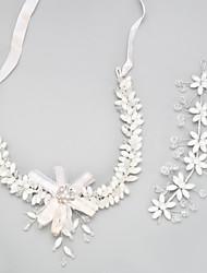 Недорогие -Жен. Кристалл Комплект ювелирных изделий кисточка Включают Свадебные комплекты ювелирных изделий Белый Назначение Свадьба