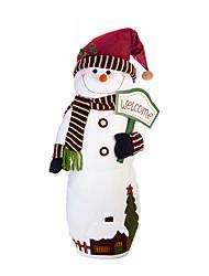 Недорогие -Снеговик Рождественский декор Новогодние подарки Милый Предметы интерьера Мультяшная тематика Высокое качество Мода текстильный Мальчики Девочки Игрушки Подарок