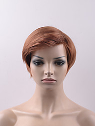 billige -Syntetiske parykker Lige Med bangs / pandehår Syntetisk hår Paryk Dame Kort Lågløs Beige
