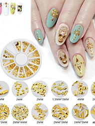 cheap -1Box  Nail Art Act The Role Ofing Is Tasted Metallic Rivet Nail A Small Grain Of Alloy Strips Decoration Plate Armour Oil Glue Nail Tools