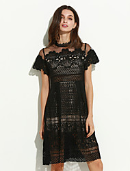 cheap -Women's Lace Going out Casual A Line Dress