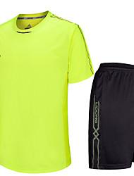 Per uomo Calcio Shorts + Set di vestiti/Completi Impermeabile Traspirante Tenere al caldo Asciugatura rapida Antivento Zip anteriore