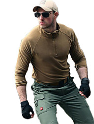 Men's Hiking Sweatshirt Thermal / Warm Windproof Breathable Comfortable Fleece Jacket Top for Camping / Hiking Fishing Exercise & Fitness