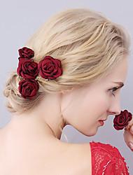 Недорогие -Ткань Головные уборы / Заколка для волос с Цветы 1шт Свадьба / Особые случаи Заставка