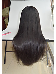 cheap -8''-26'' silky straight human hair wigs Malaysian virgin hair pre plucked wigs straight hair wigs lace front wig