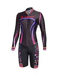 2016 Malciklo Women Maillot Cycling Jersey Long Sleeve Geometric Patterns Triathlon Skinsuit Ropa Ciclismo Mountain Cycling Clothing
