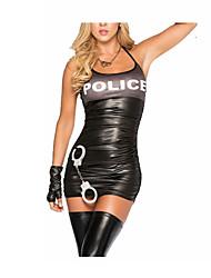 Недорогие -Полиция Косплэй Kостюмы Жен. Хэллоуин Карнавал Новый год Фестиваль / праздник Инвентарь Вырезка
