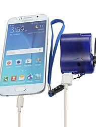 cheap -Travel phone hone charger Dynamo cell Hand usb hand Blue Emergency dynamo USB Mobile crank (Size: Android, Color: Blue)