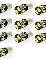 LED Car Light BA9S T4W Marker Reading Door Indicator Bulb 10 SMD 5630 12V DC Warm White/White (10 Pieces)