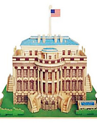 Jigsaw Puzzles Wooden Puzzles Building Blocks DIY Toys White House 1 Wood Ivory Model & Building Toy