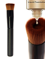 cheap -1pcs Foundation Brush Nylon Synthetic Hair Professional  Eco-friendly Limits bacteria Portable Wood Face Others Cosmetic Makeup Brush