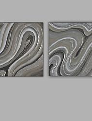 Hånd-malede Abstrakt Kvadrat, Klassisk Moderne Lærred Hang-Painted Oliemaleri Hjem Dekoration To Paneler