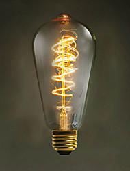 e27 ST64 wire around 60w 220V-240V edison Retro decorative light bulbs