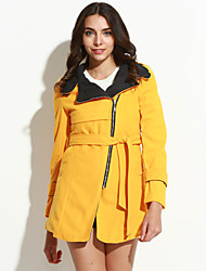 cheap -Women's Chic & Modern Coat-Solid Colored,Modern Style