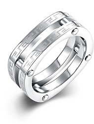 Ring Engagement Ring Stainless Steel Silver Plated Fashion Silver Jewelry Wedding Party Daily Casual Sports 1pc