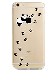 cheap -For iPhone X iPhone 8 iPhone 7 iPhone 7 Plus iPhone 6 Case Cover Pattern Back Cover Case Playing with Apple Logo Panda Soft TPU for Apple