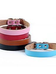 preiswerte -Hund Halsbänder Regolabile / Einziehbar Handgemacht Solide Schwarz Braun Rot Blau Rosa