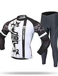 XINTOWN Cycling Jersey with Tights Men's Long Sleeves Bike Pants/Trousers/Overtrousers Tracksuit Zip Top Fleece Jackets Jersey Tops