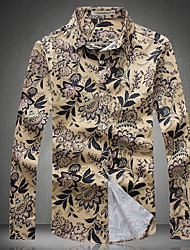 billige -Herre Bomuld, Trykt mønster Aktiv Skjorte