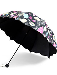 South Korean Princess Leaves  Black Glue Anti Ultraviolet Ray Umbrella  Seventy Percent off Rain  Dual Purpose Sun Umbrella  Small Fresh Wave