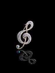 abordables -estilo elegante de la boda broche de diamantes de imitación plateado elegante estilo