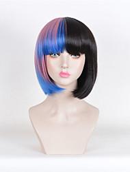 Недорогие -Искусственные волосы парики Прямой силуэт Волосы с окрашиванием омбре Парик из натуральных волос Черный