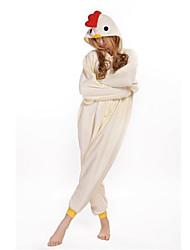 Kigurumi Pijamas Galo/Galinha Ocasiões Especiais Lã Polar Kigurumi Malha Collant / Pijama Macacão Cosplay Festival / Celebração Pijamas